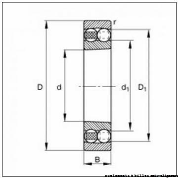 60 mm x 110 mm x 22 mm  FAG 1212-K-TVH-C3 + H212 roulements à billes auto-aligneurs