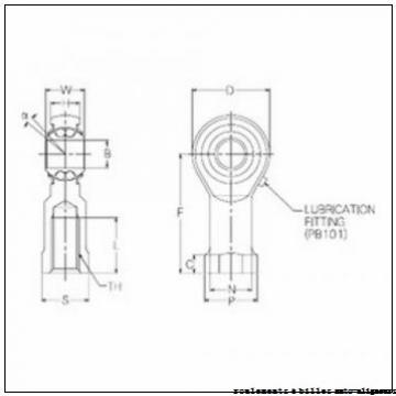 90 mm x 190 mm x 64 mm  SIGMA 2318 M roulements à billes auto-aligneurs