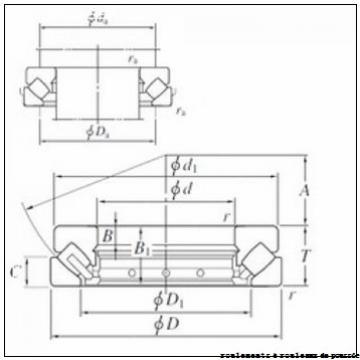 220 mm x 360 mm x 29 mm  Timken 29344 roulements à rouleaux de poussée