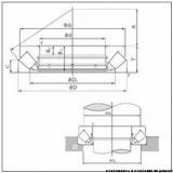 35 mm x 52 mm x 3,5 mm  NBS 81107TN roulements à rouleaux de poussée